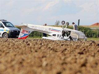 U dálnice D5 se pokusilo nouzově přistát malé letadlo. (5. září 2020)