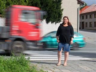 Hana Kuglerová bojuje s úřady, aby upravily křižovatku v Droždíně, kde utrpěla...