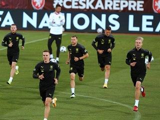 Trénink dodatečně nominované reprezentace na Andrově stadionu v Olomouci