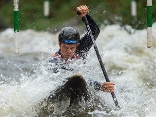 Václav Chaloupka si v Lipně jede pro český titul ve slalomu na divoké vodě.