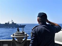 Řecké námořní manévry ve východním Středomoří (25. srpna 2020)