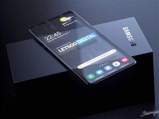 Koncept průhledného smartphonu Samsung