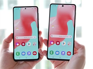 Samsung Galaxy M31s (vlevo) a Samsung Galaxy M51