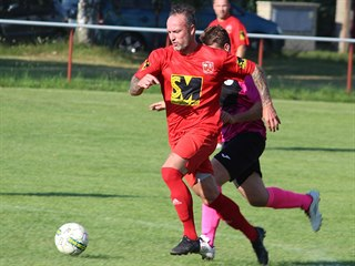 Martin Jiránek v dresu Červených Janovic.