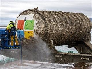 Čištění podmořského datacentra