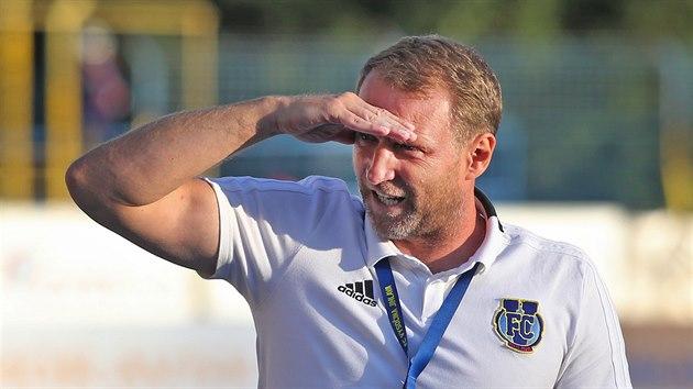 Trenér Jihlavy Aleš Křeček.