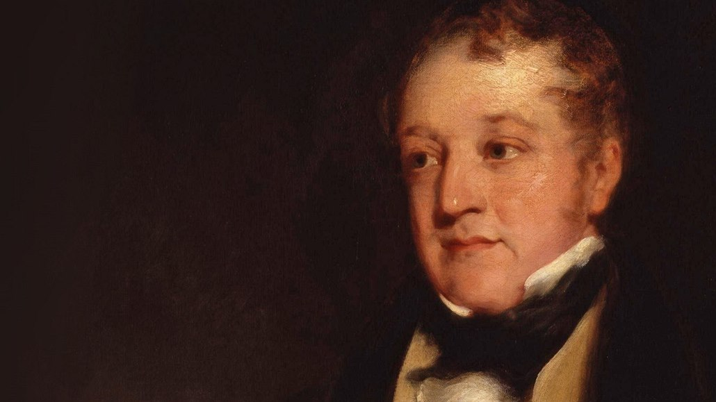 William huskisson na obraze Richarda Rothwella.