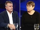 Hosty pátečního Rozstřelu DUELU jsou kandidáti do Senátu Anna Šabatová a Roman...