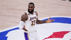 LeBron James z LA Lakers je rozladěný.