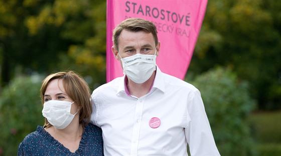 Martin Půta se svou ženou (3. října 2020)