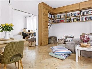 Po rekonstrukci vznikl z tří místností pěkný a světlý propojený prostor.