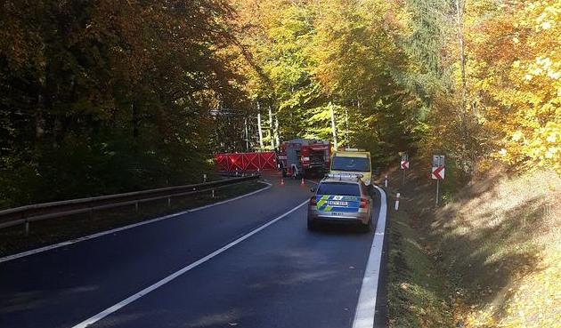 Auto na Zlínsku po nárazu do stromu začalo hořet. Zemřely dvě ženy