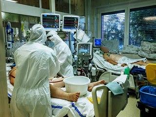Covid oddělení v Krajské nemocnice Tomáše Bati ve Zlíně