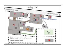 Plánek pøibližuje podobu tábora a rozmístìní jednotlivıch sekcí.