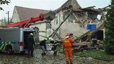 Začala demolice domu v Tursku, kriminalisté v něm hledali sporák