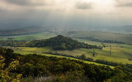 Pohled zHradiště na Litoměřice