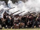 Snímek z rekonstrukce bitvy na Bílé hoře, která se odehrála před 400 lety v...