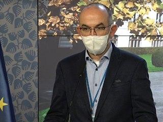 Ministr zdravotnictví Jan Blatný po jednání vlády, na kterém kabinet schválil...