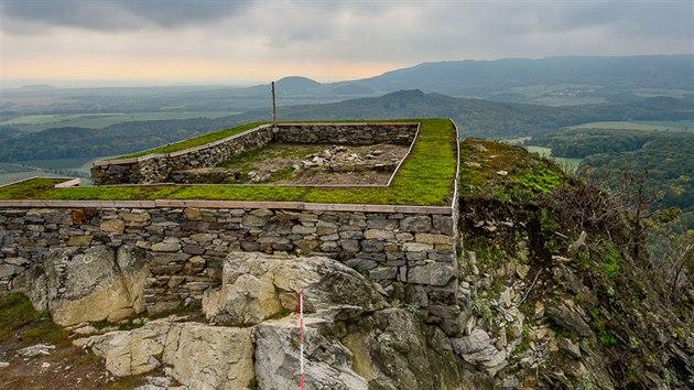 Zbytky hradu Kalich