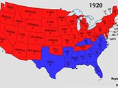 Před 100 lety byla politická mapa USA téměř kompletně odlišná