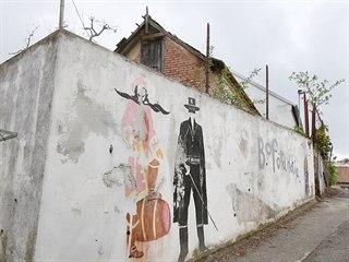 Ke Kamenné kolonii patří i graffiti.