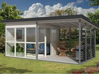 Americká společnost Allwood z Floridy uvedla na trh dřevěný domek Solvalla....