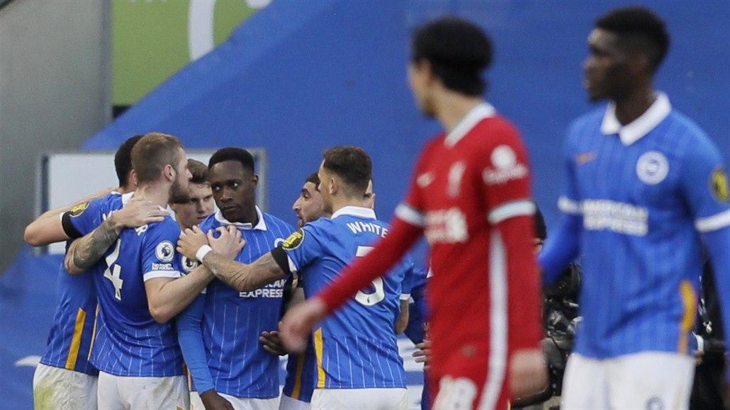 Liverpool neustál závěr v Brightonu. Manchester City rozstřílel Burnley
