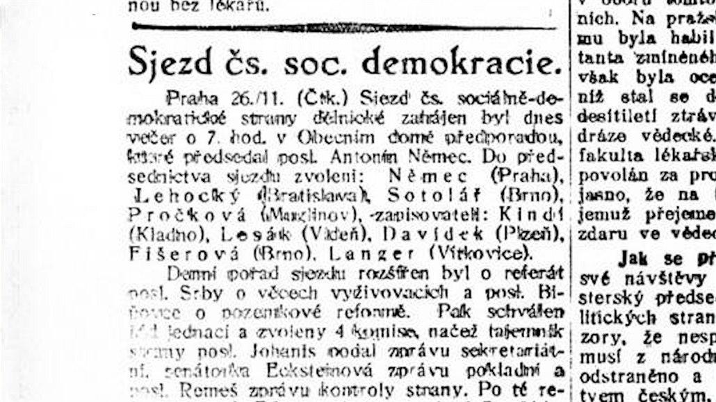 Poprvé bez bolševiků. Sociální demokraté se před 100 lety sešli bez ruské frakce