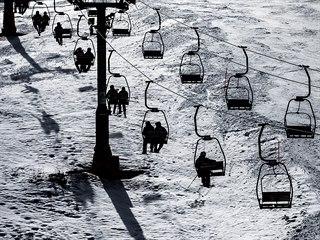 Jedno z posledních letošních lyžování ve Špindlerově Mlýně. (15. března 2020)