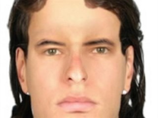 Pravděpodobná podoba muže nalezeného v mělkém hrobě u Habrů podle policejní...