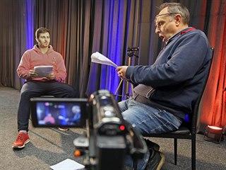 Pavel Kikinčuk (vpravo) a Michal Košan při zkoušce před natáčením internetových...