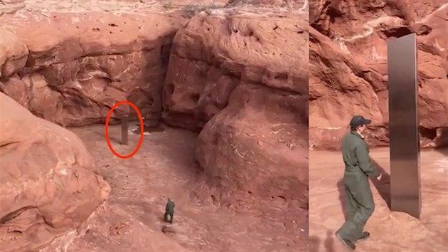 V Utahu objevili v poušti záhadný kovový monolit