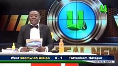 Ghanský sporťák baví čtením fotbalových výsledků