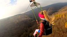 Nejdelší zipline v Česku má přes dva kilometry