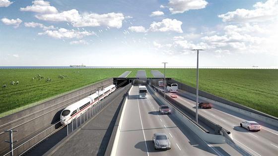 Stavba 18 kilometrů dlouhého tunelu pro automobily a vlaky, který propojí...