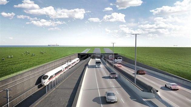 Stavba 18 kilometrů dlouhého tunelu pro automobily a vlaky, který propojí Německo a Dánsko, pod Fehmarnskou úžinou v Baltském moři.