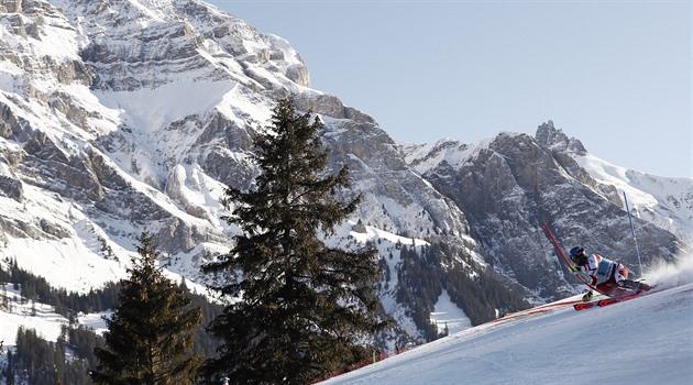 Rakouský lyžař Schwarz vyhrál v Adelbodenu poprvé slalom Světového poháru