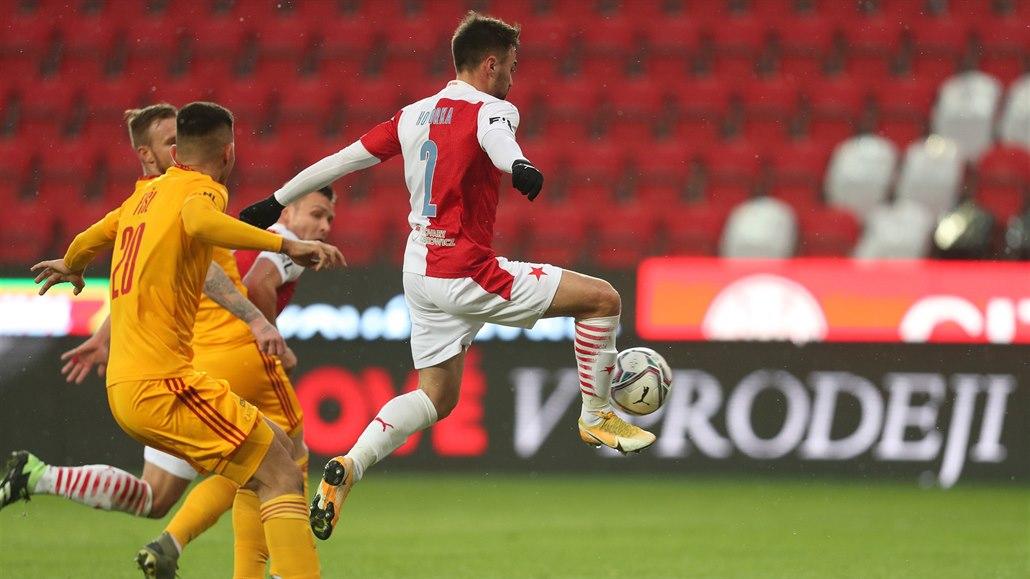 Slavia - Dukla 4:1, favorit je v osmifinále poháru, díky vydařené první půli