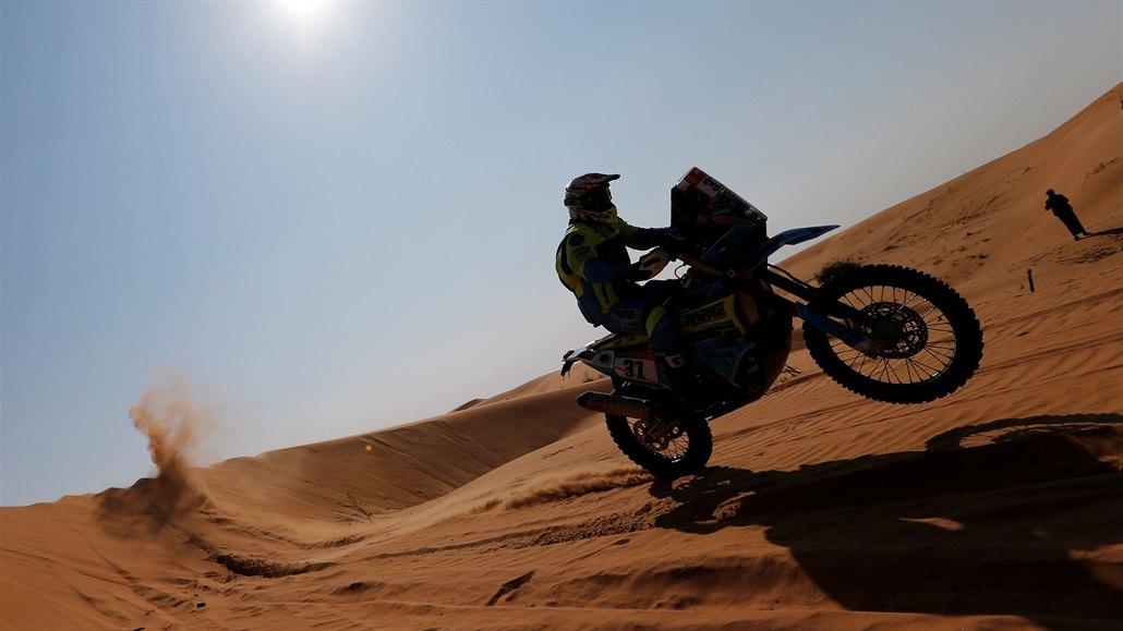 ONLINE: Jede se královská etapa Dakaru. Čtyřkolkář Kubiena je čtvrtý