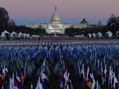 Pole asi 191 tisícù vlajek pøed Kapitolem, které symbolizují poèet Amerièanù,...