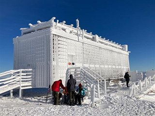 Česká poštovna na Sněžce v lednu 2021.