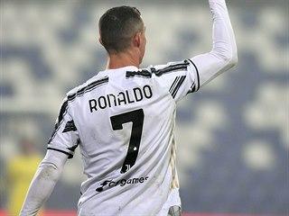 Cristiano Ronaldo slaví gól.