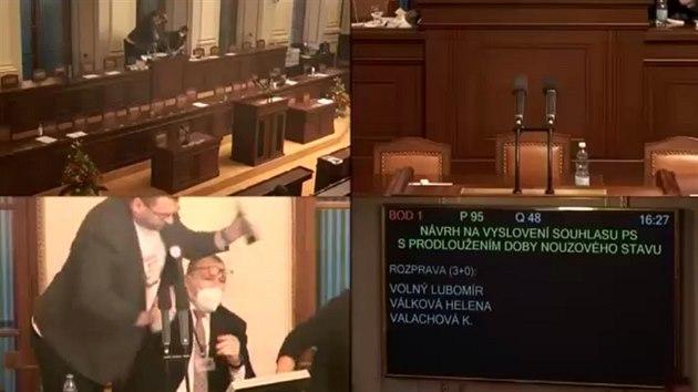 Šarvátka ve Sněmovně: Volný atakoval předsedajícího