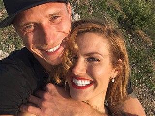 Gabriela Koukalová a její přítel Miloš Kadeřábek