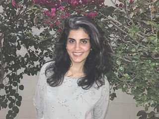 Saúdská lidskoprávní aktivistka Ludžajn Hazlúlová  po propuštění z vězení (10....