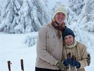 Denis Docenko a Andrea Tesařová při natáčení filmu Cesta do Kandaháru