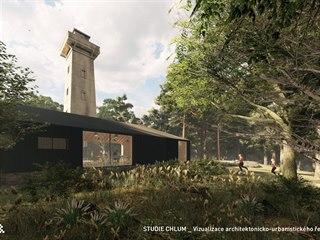 Vizualizace architektonicko-urbanistického řešení revitalizace vrchu Chlum u...