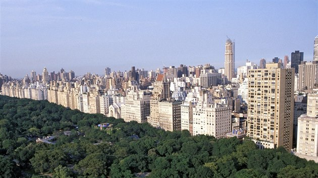 Pohled na Central Park a Upper East Side na Manhattanu