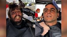 Stříhal filmové hvězdy, dnes zdarma bezdomovce