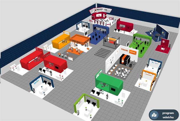 Služební cesty od stolu ve 3D. Virtuální veletrhy mohou vypadat jako hra